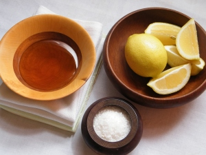 Lemons, honey, salt are antiseptic and medicinal